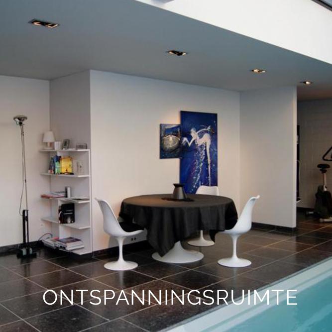 Realisatie ontspanningsruimte sauna schilder