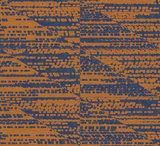 Bruin - Blauw Gestreept Grafisch behangpapier